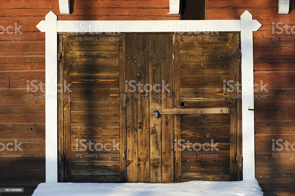 Closed old door royalty-free stock photo