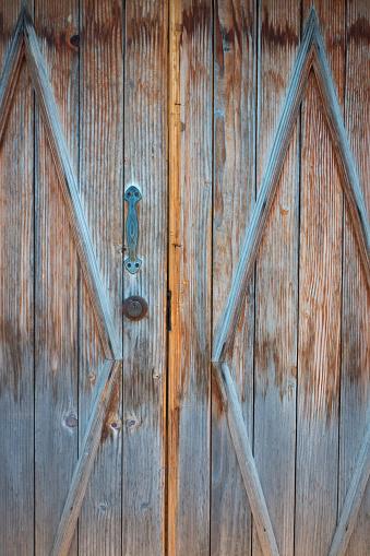 Closed old Wood Door