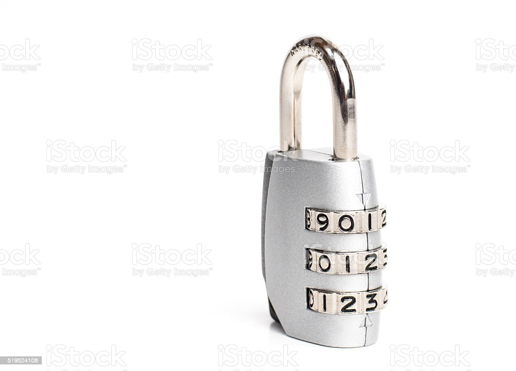 Closed padlock stock photo