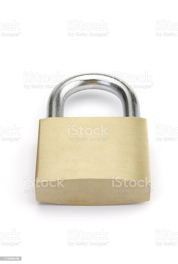 Closed padlock without lock. Series royalty-free stock photo