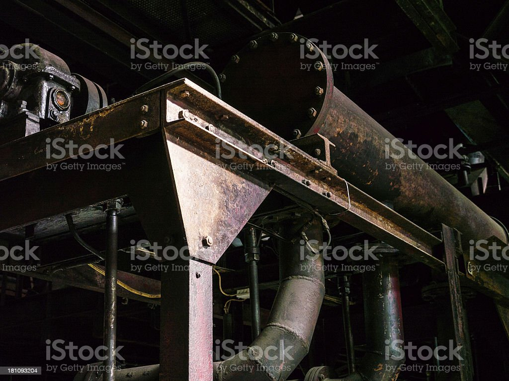 Closed Pipe Zollverein Old Heavy Industry detail royalty-free stock photo