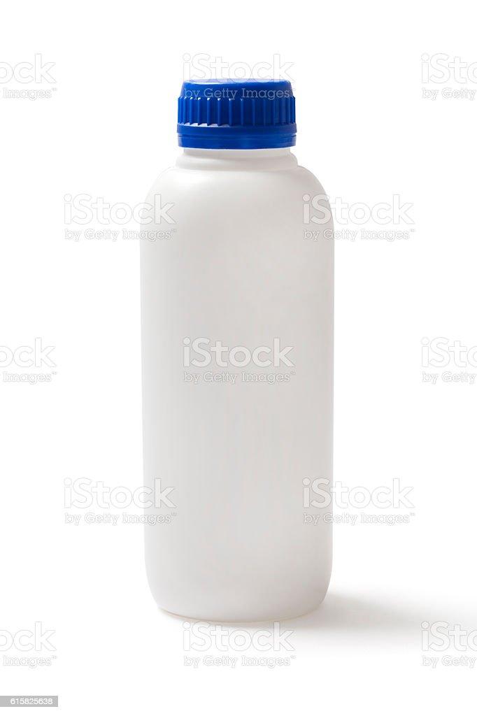 Closed Plastic Bottle on White stock photo