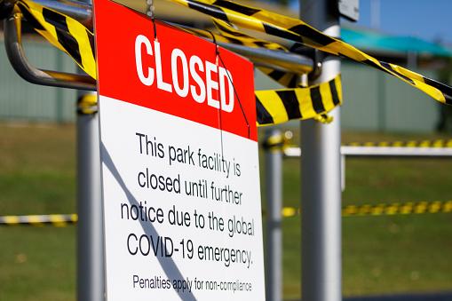 Closed Playground During Covid-19 Shut Down