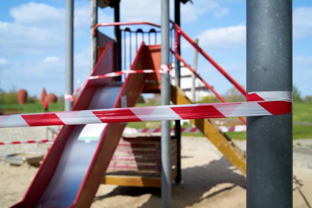 geschlossener Spielplatz in Magdeburg – Foto