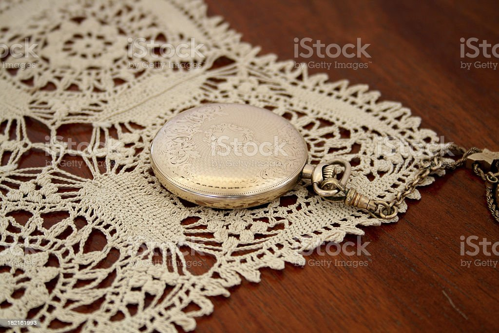 Closed Pocketwatch royalty-free stock photo
