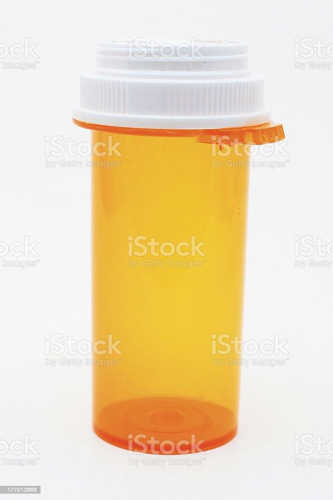 Closed Prescription Bottle stock photo
