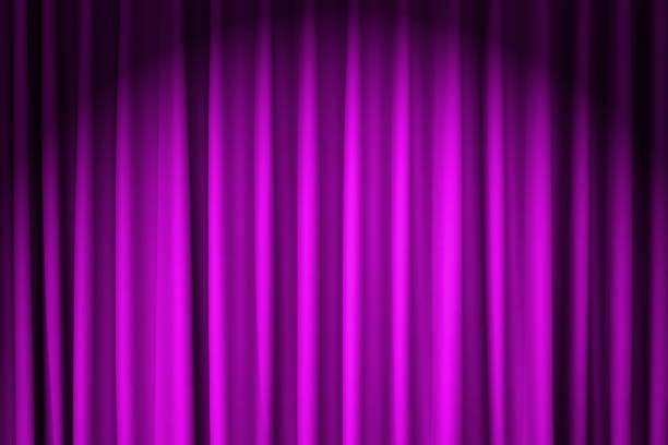geschlossen lila Samt Vorhang - Verwendung für Hintergrund – Foto