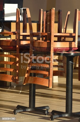 istock Closed Restaurant Close Up Abstract 959584280