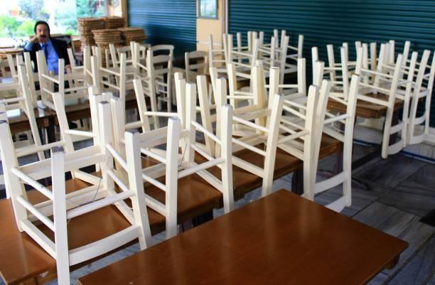 Restaurant fermé en raison du confinement du Coronavirus. - Photo