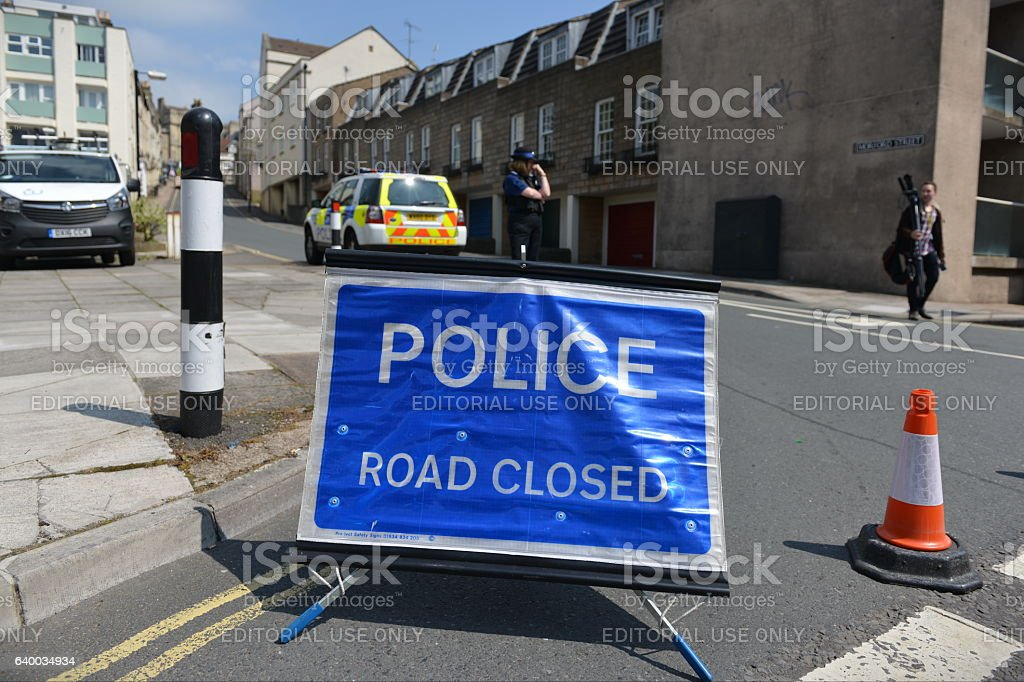 Closed Road Sign stock photo