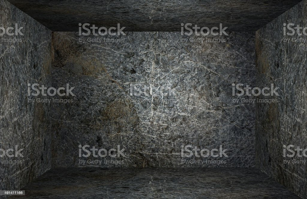 Closed room stone stock photo