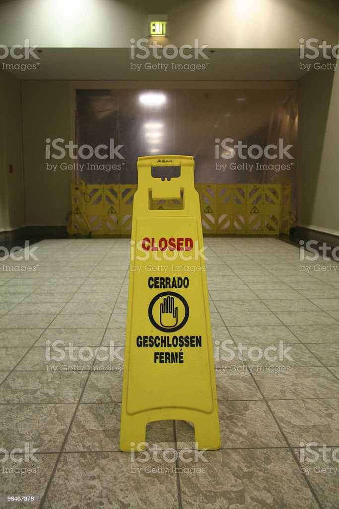 Closed sandwich board royalty-free stock photo