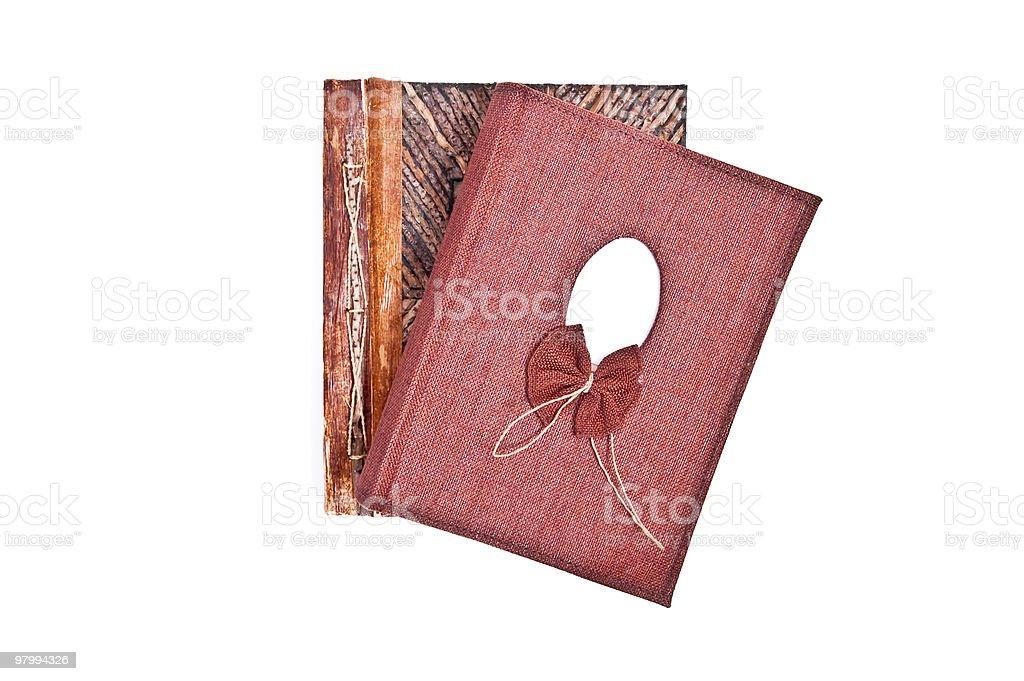 Closed scrapbooks royalty free stockfoto