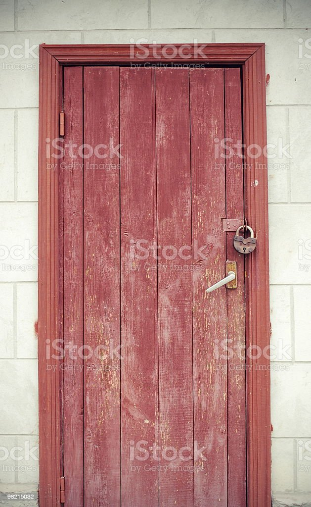 Closed shed door royalty-free stock photo