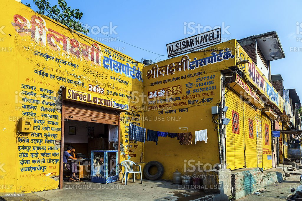 \'Jaipur, India - October 19, 2012: closed shops on Friday in Jaipur,...