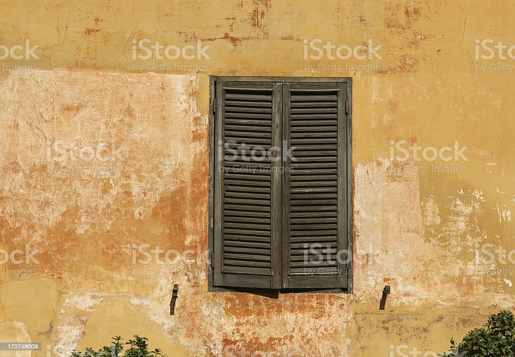 Closed shutters in Rome royalty-free stock photo