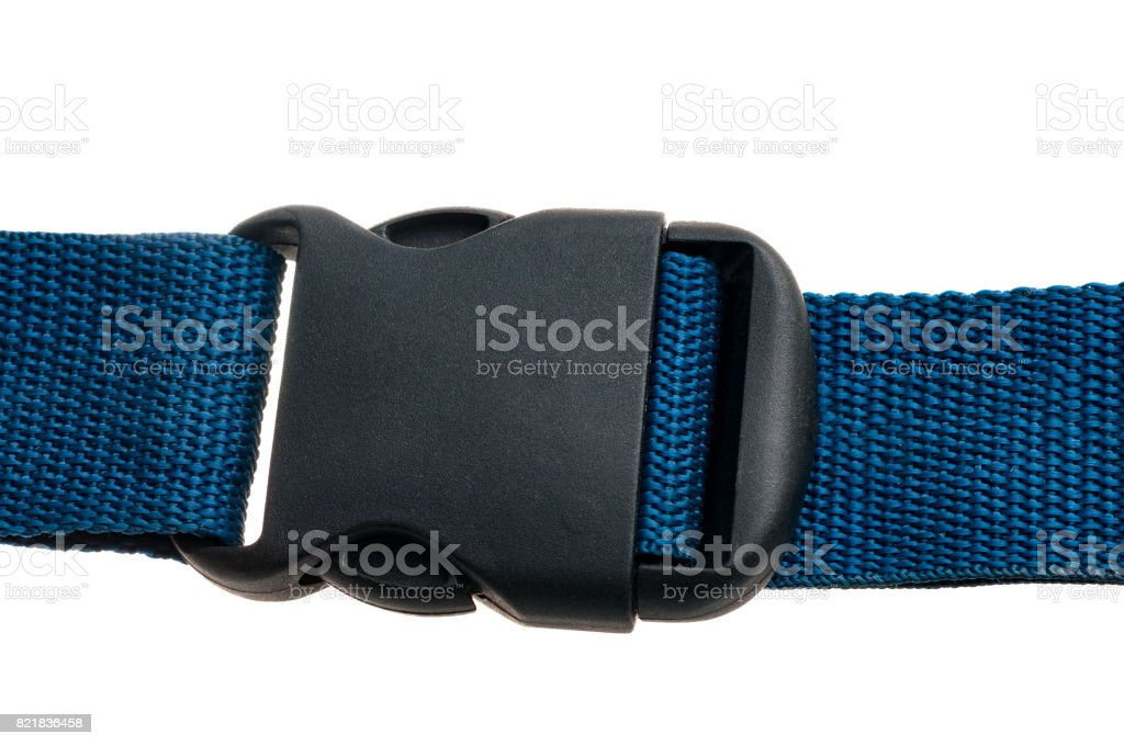 closed Side Release Buckle isolated on white background stock photo