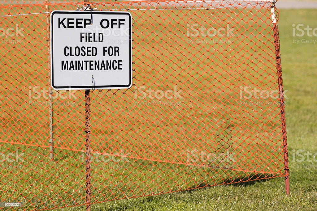 Closed Sign Corner royalty-free stock photo