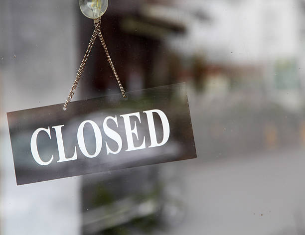 closed sign in shop window - closed stock photos and pictures