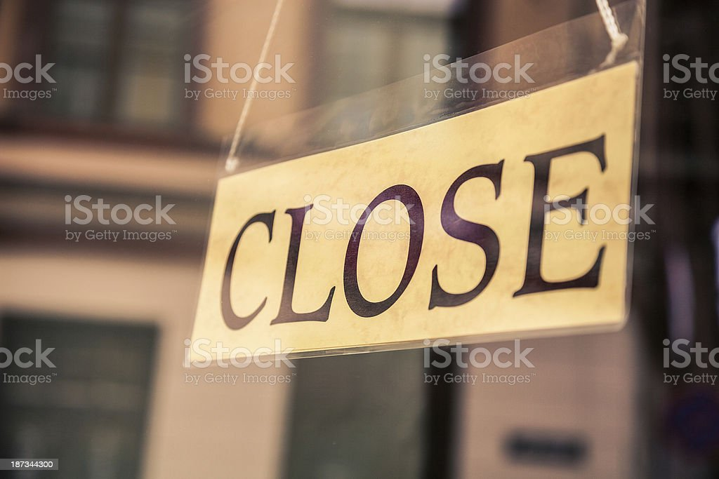 Closed sign in Tallin, Estonia royalty-free stock photo