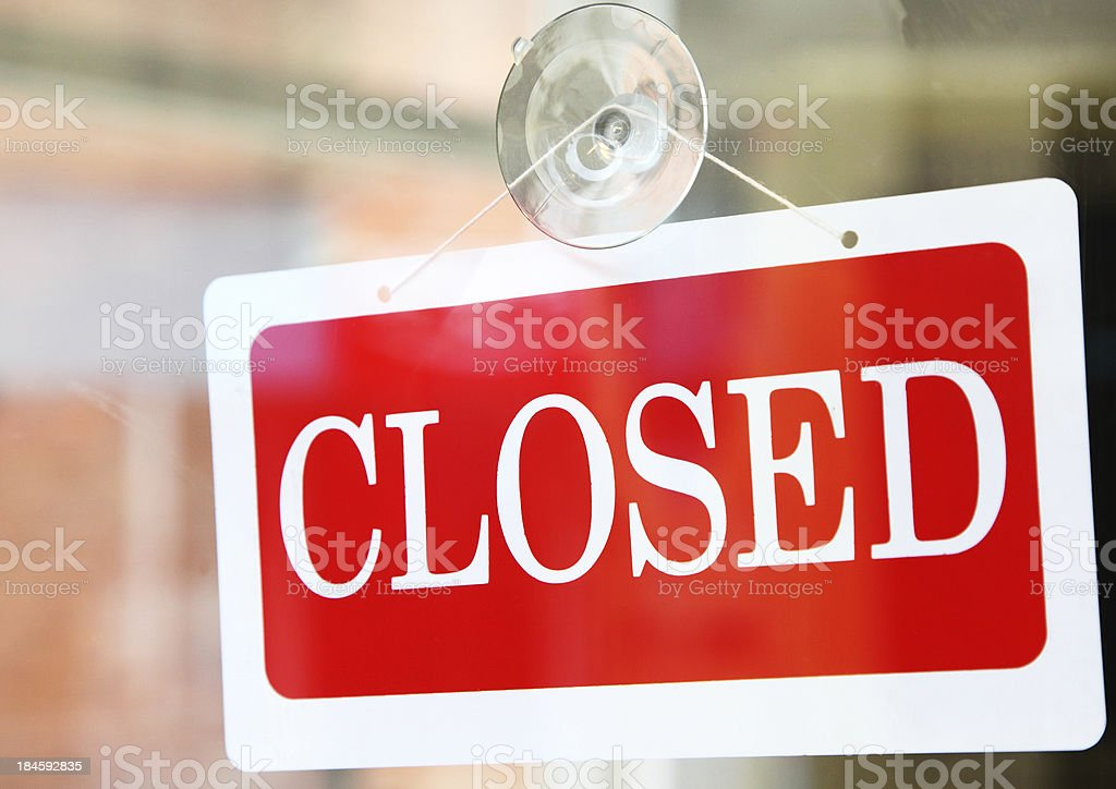 closed sign on shop royalty-free stock photo