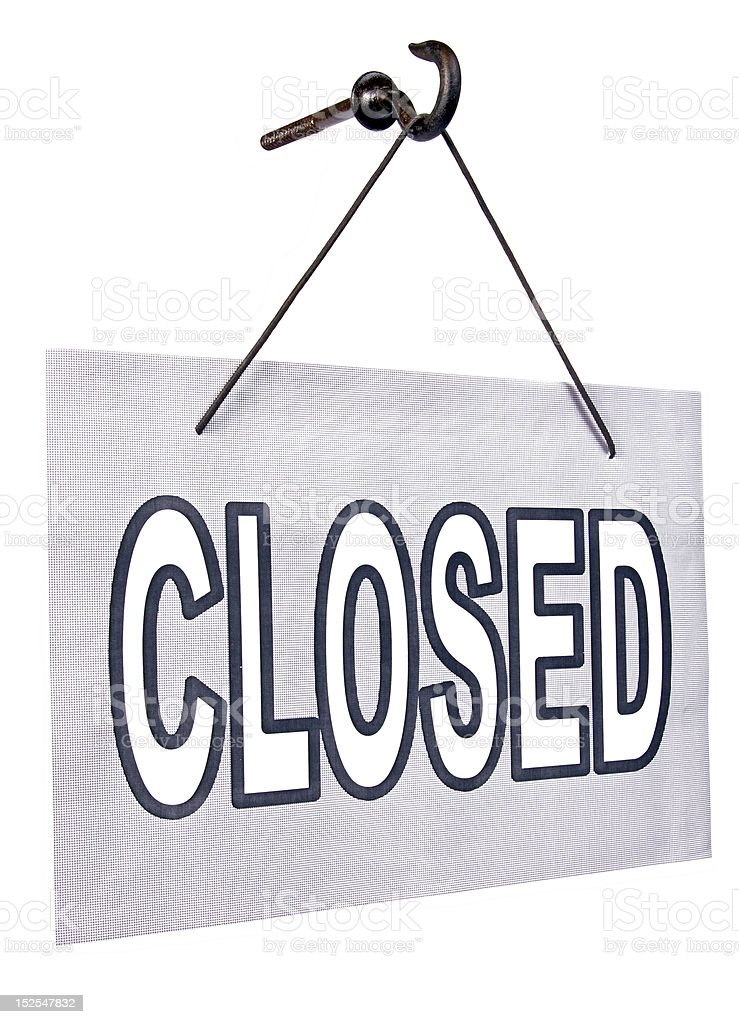 closed sign royalty-free stock photo