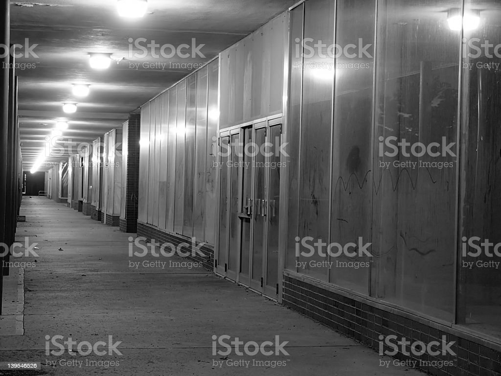 Closed Strip Mall royalty-free stock photo