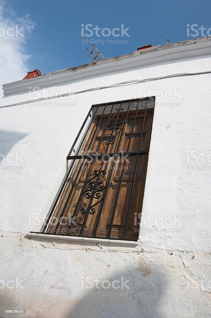 Closed summer window royalty-free stock photo