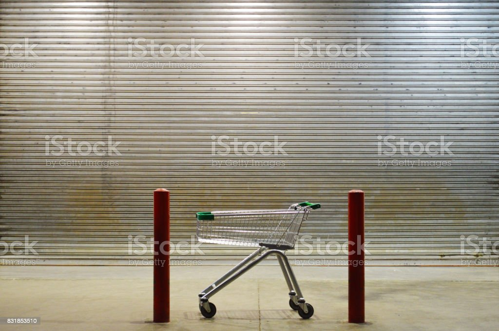 Closed supermarket royalty-free stock photo