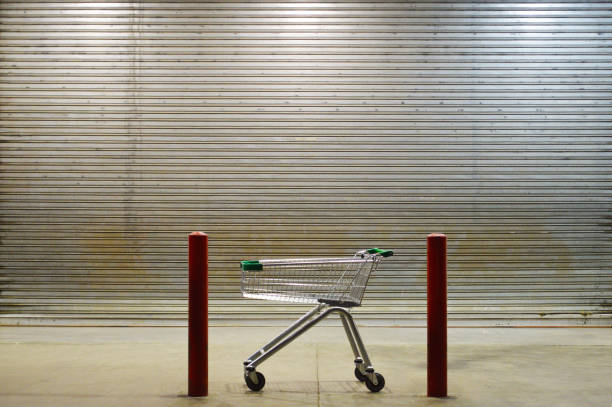 Closed supermarket stock photo