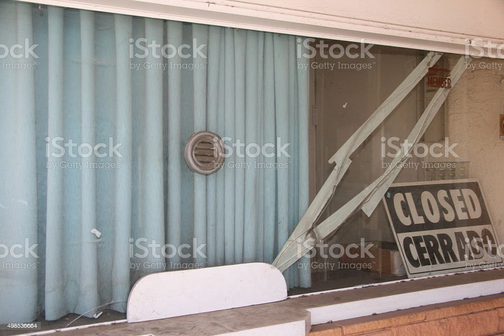Closed Theater stock photo