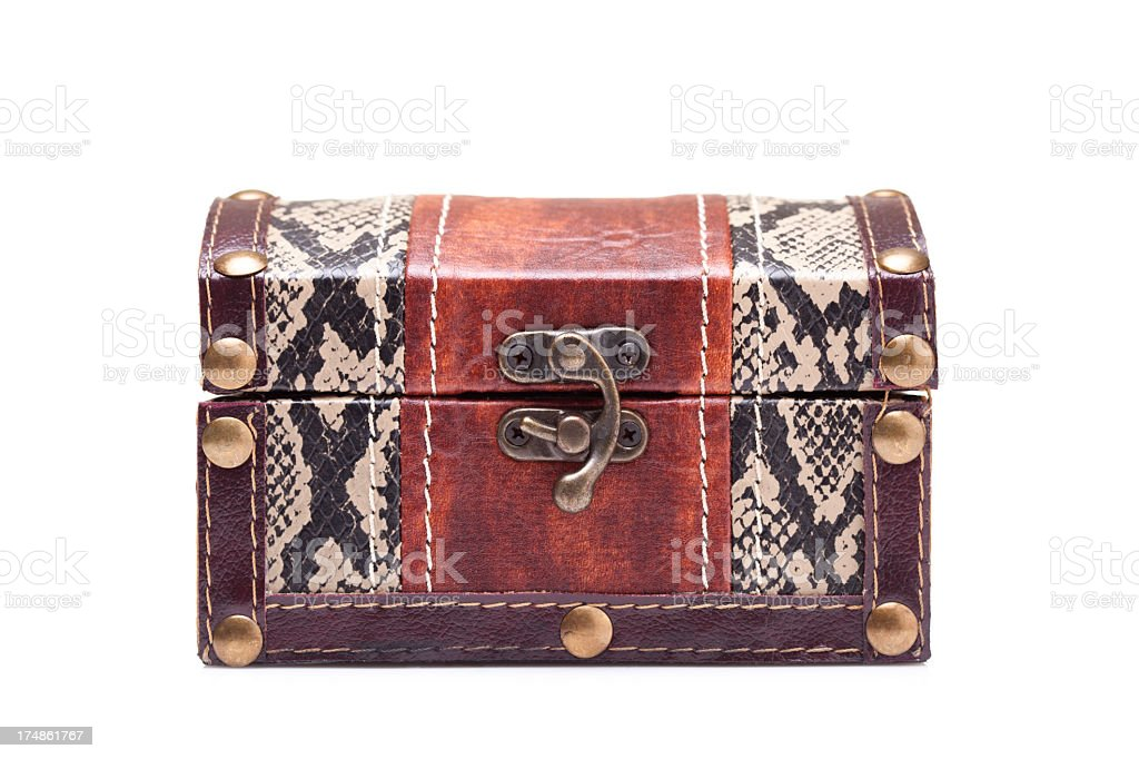 closed treasure chest royalty-free stock photo