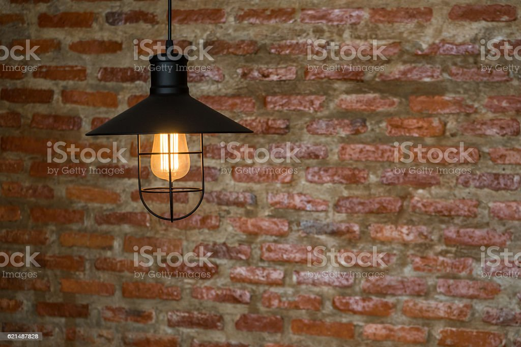 Closed up Ceiling vintage lamp foto stock royalty-free