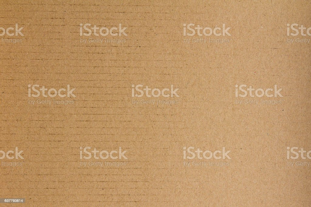Closed up of brown cardboard paper background stock photo