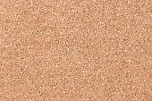 Closed up of brown color cork board textured background