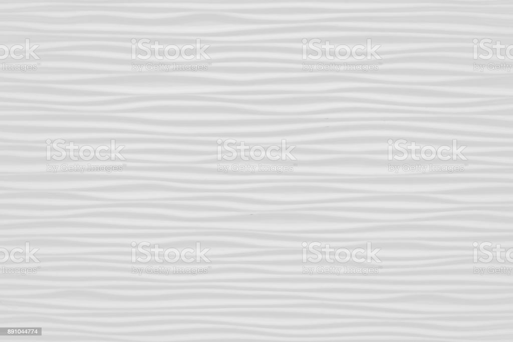 Closed Up of Horizontal Texture of White Abstract Waves stock photo