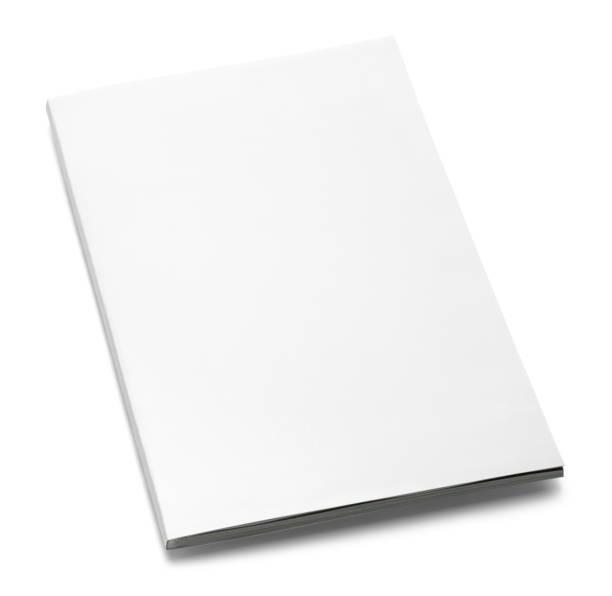 revista branca fechada - brochura - fotografias e filmes do acervo