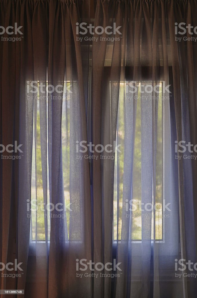 closed window curtain royalty-free stock photo