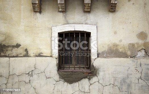 1124475954 istock photo Closed wooden window 1195557683