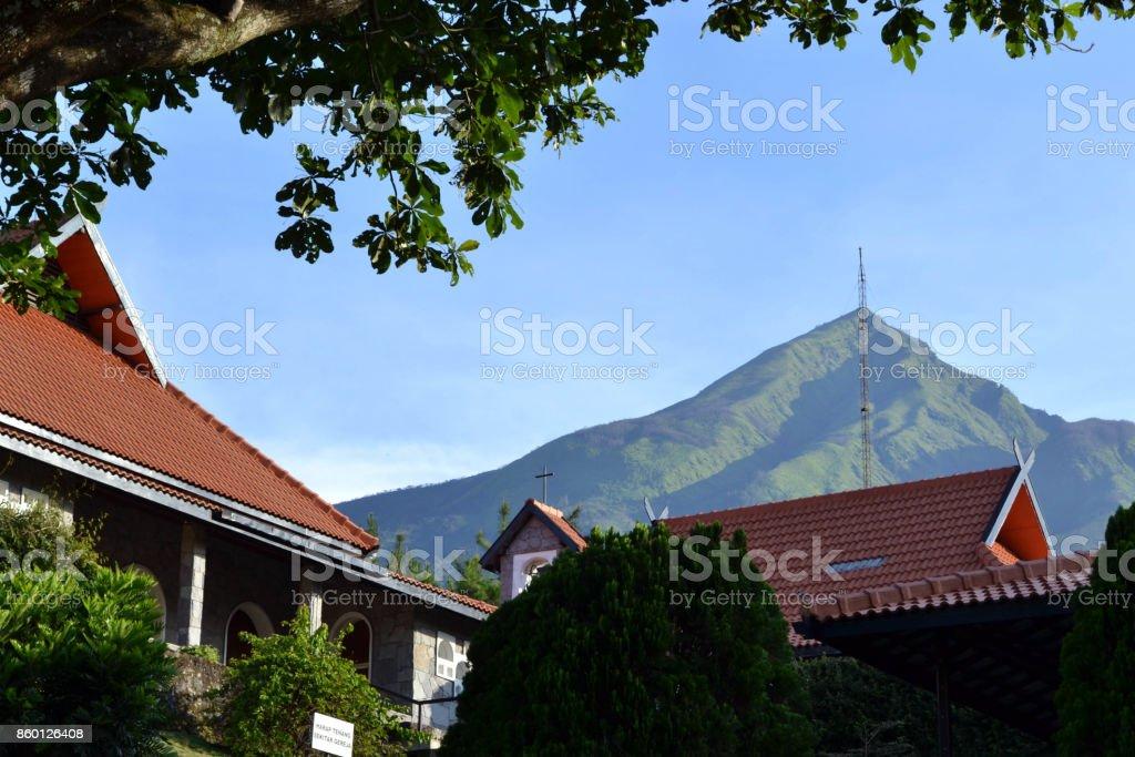 Closer to the Benedictine monastery (Trappistine Nun) in Indonesia stock photo