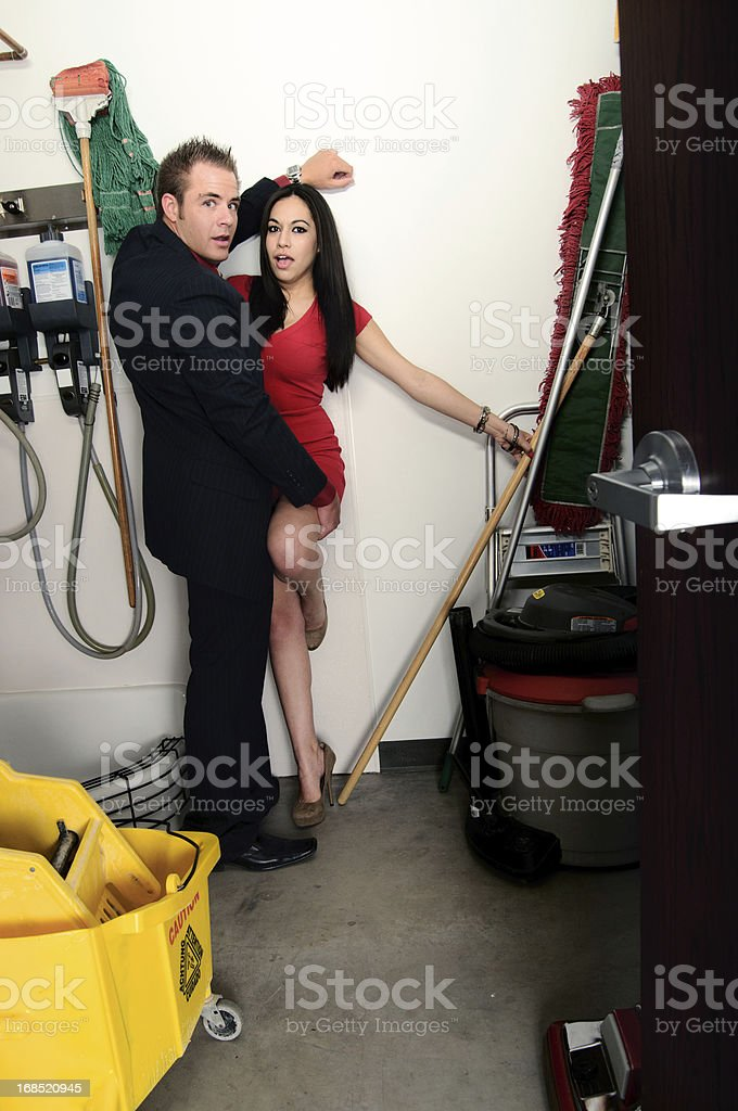 Closet Couple stock photo