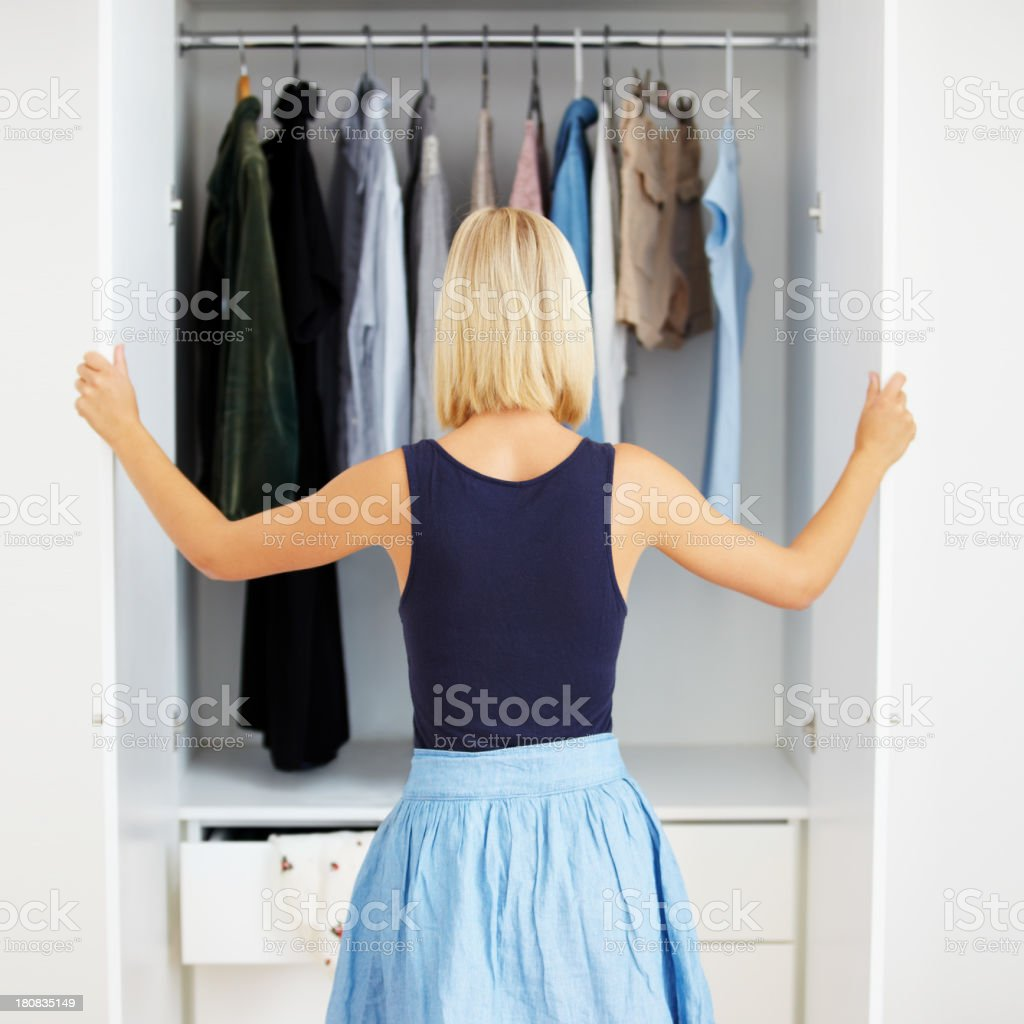 Closet full of choices stock photo