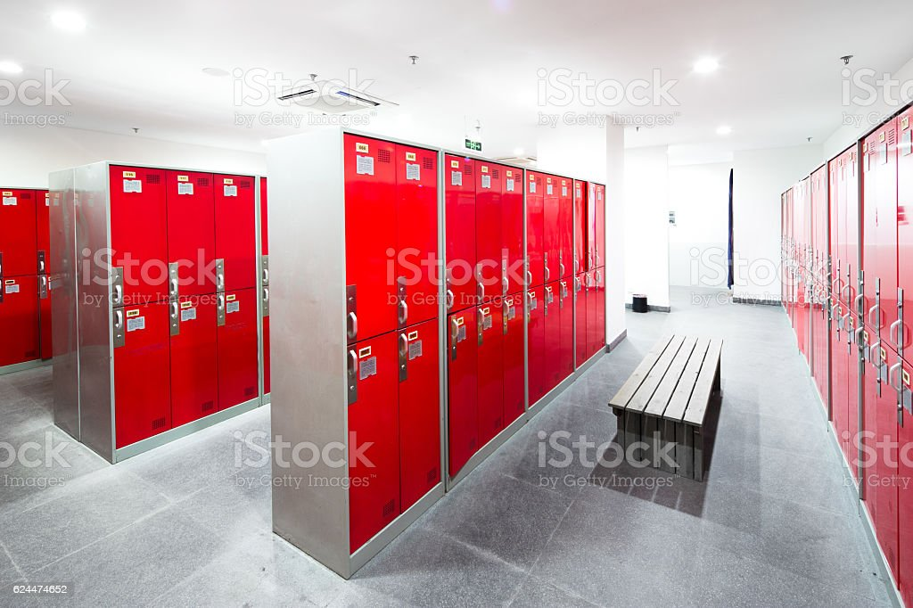 closet in modern dressing room stock photo
