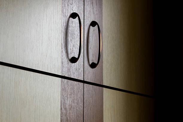 closet in the dark - geschlossene küchen stock-fotos und bilder