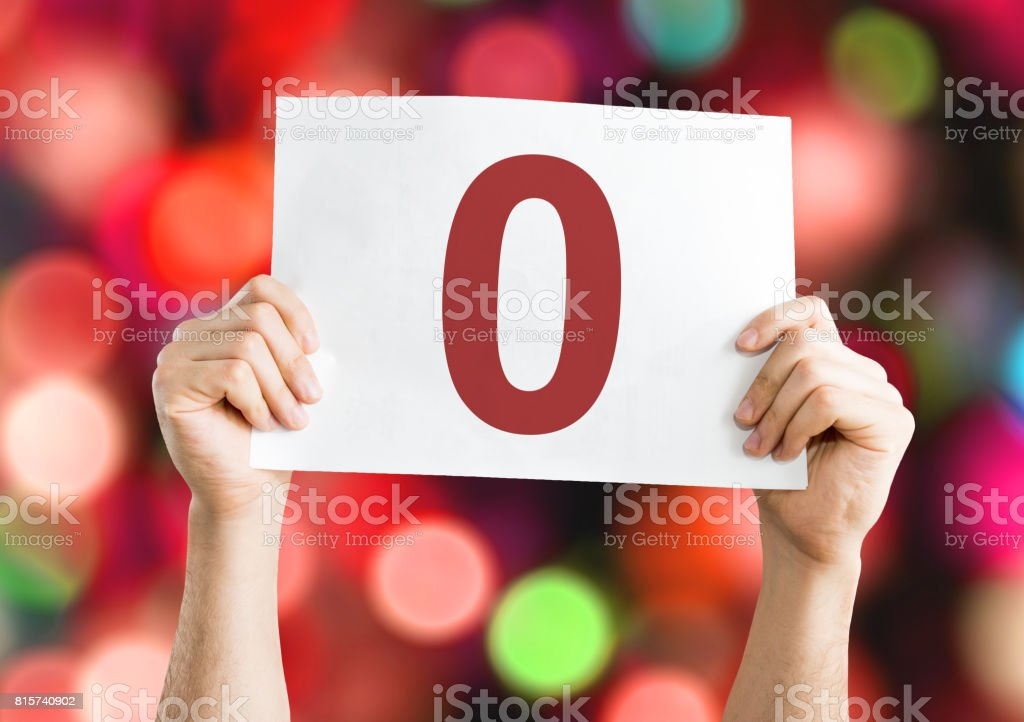 0 placard stock photo