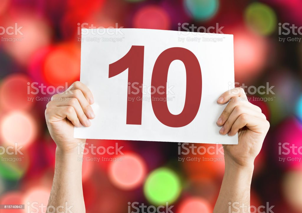 10 placard stock photo
