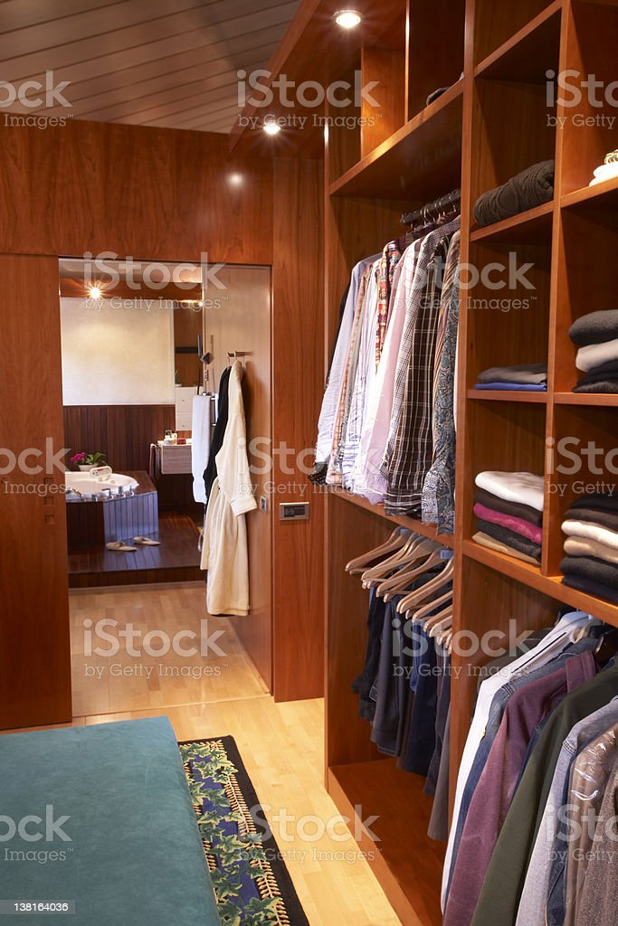 Closet room royalty-free stock photo