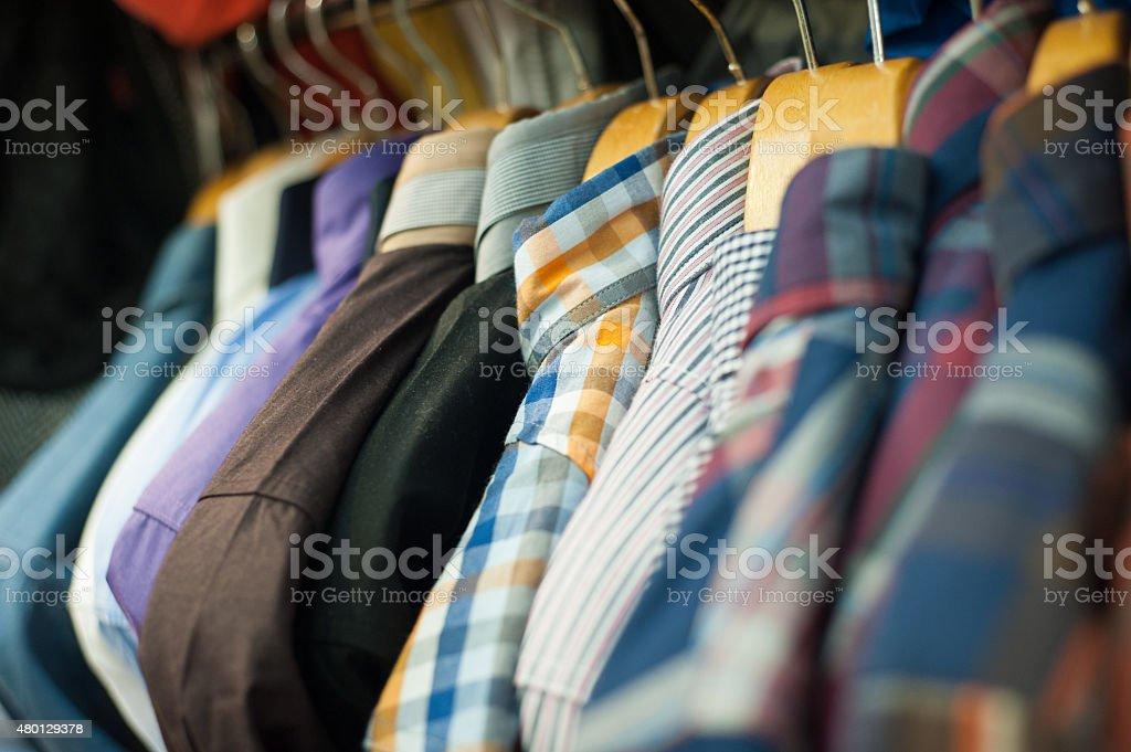 Closet shirt stock photo