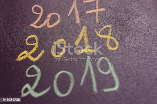istock Closeup 2018 wood numbers for year planning concept 941984238