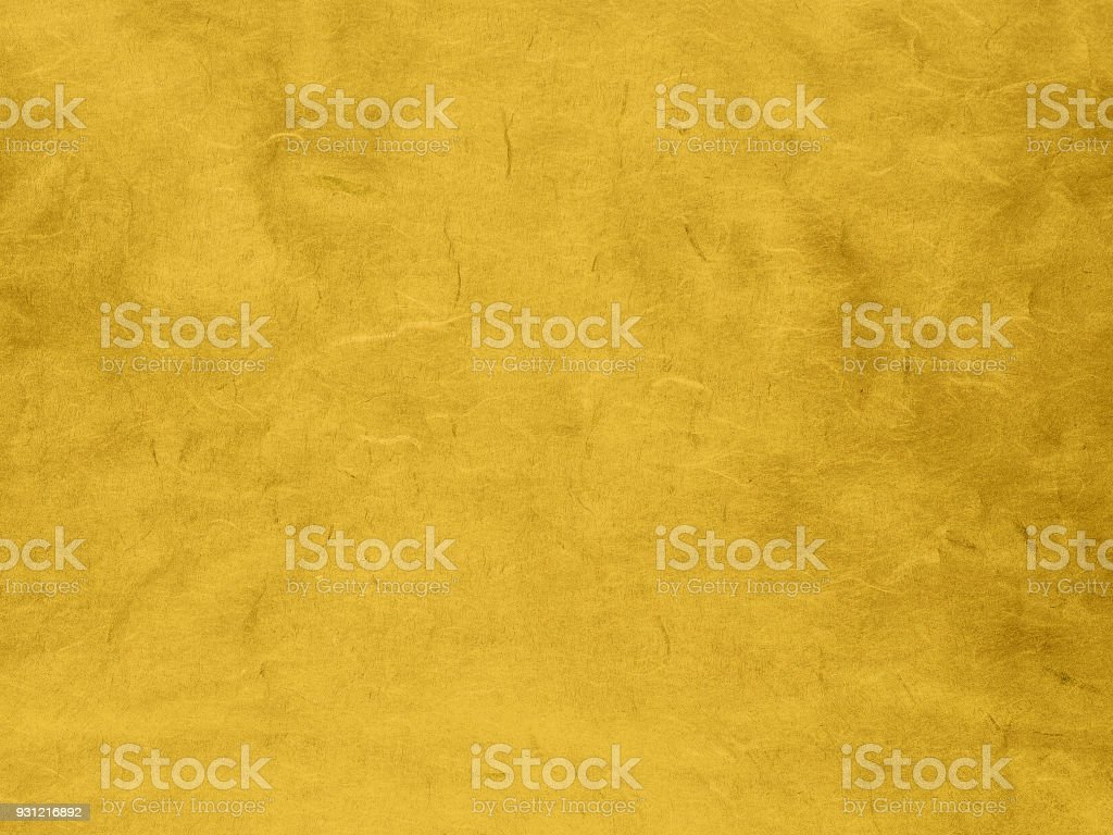 Closeup Abstract Pattern Stripe On Yellow Gold Paper Texture Elegant